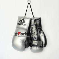 Сувенирные боксерские перчатки Adidas на 10 унций (ADIBGG02, черно-серебрянные)