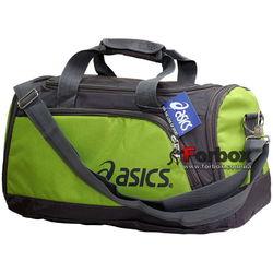 Сумка спортивная Asics полиэстер 50х26х23 (GA-5632-2, зелено-серая)