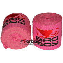Бинты боксерские эластан Bad Boy MA-5464 (3м, розовый)