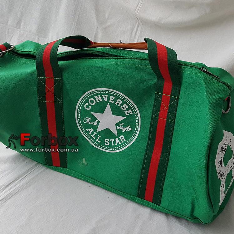 f04a0f8b14fd УЦЕНКА Сумка спортивная Бочонок GA-0520 Converse зеленая пятно на сумке
