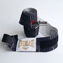 Бинти для боксу Everlast Printed Hand Wraps (P00001252, чорно-сірі)