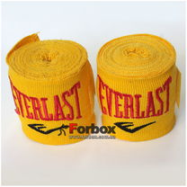 Бинти боксерські еластан Everlast MA-5465 (3м, жовтий)