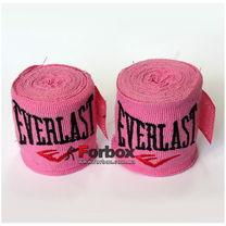 Бинти боксерські еластан Everlast MA-5465 (3м, рожевий)