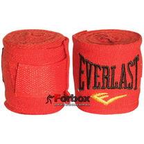 Бинти боксерські еластан Everlast MA-5465 (3м, червоний)