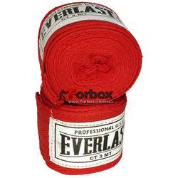 Боксерские бинты Everlast хлопок (VL-0003, красные)
