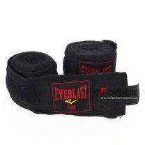 Бинты боксерские Everlast хлопок (BO-3619, черные)
