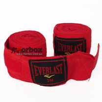 Бинты боксерские Everlast хлопок (BO-3619, красные)