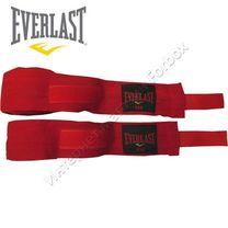 УЦЕНКА боксерские бинты Everlast спандекс (повреждение ленты, красные)