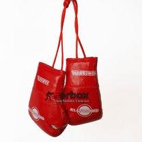 Сувенирные боксерские перчатки с логотипом (Klogo, красно-белые)