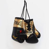 Сувенірні рукавиці Everlast на шнурках для авто (1381, чорно-золоті)