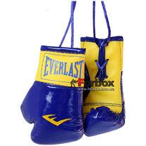 Сувенірні рукавиці Everlast на шнурках для авто (1381, синьо-жовті)