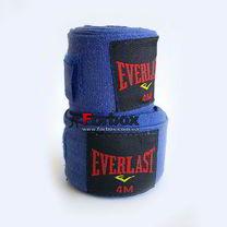УЦЕНКА Бинты боксерские эластичные Everlast повреждение ленты синие