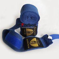 Бинты боксерские Green Hill натуральный хлопок (BP-6235, синие)