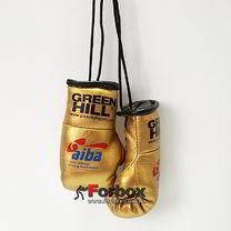 Сувенирные боксерские перчатки Green Hill (MG-1004, золотые)