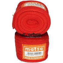 Бинты боксерские Matsa эластичные (MA-0031, красные)