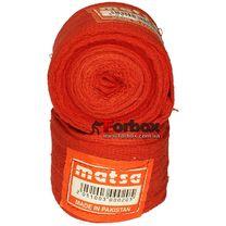 Бинт боксерский Matsa хлопковый (MA-0030, красный)