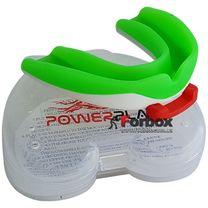Капа боксерская Power Play 3316 (adult, бело-зеленая)