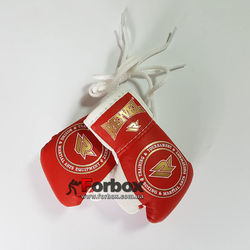 Сувенирные перчатки на шнурках REYVEL (1510-rdwh, красно-белые)