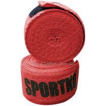 Боксерские бинты хлопок Sportko (1158-bk, красные)