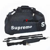 Спортивная сумка-рюкзак 2в1 Supreme  из ткани 50*25*22 см (7191, черная)