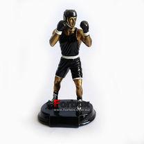 Статуэтка наградная Боксер в черной форме 27см*15см*11см (C-1761-A, черный)