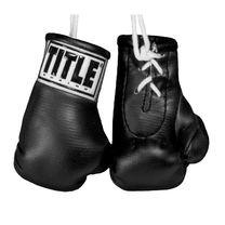 """Сувенирные боксерские перчатки TITLE 3.5"""" mini boxing gloves (MBG, черный)"""