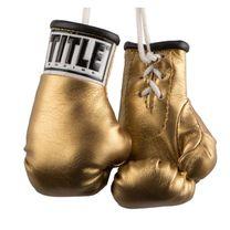 """Сувенирные боксерские перчатки TITLE 3.5"""" mini boxing gloves (MBG, золотые)"""