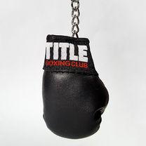 Сувенирная боксерская перчатка на кольце TITLE (TBCBGKR, черная)