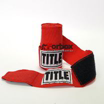 УЦЕНКА Бинты боксерские TITLE эластик (ASMHW, красные)