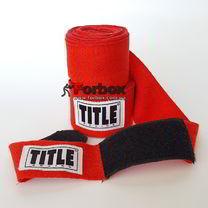 Бинти боксерські Title бавовняні Traditional (HW, червоні)
