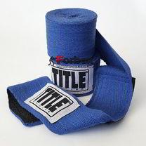 Боксерские бинты TITLE из натурального хлопка (TJRHW, синие)