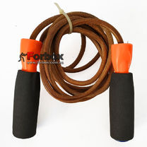 Скоростная скакалка TITLE Classic Leather Speed Ropes с утяжелителями SJRL
