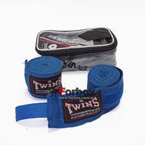 Бинты боксерские Twins эластичные (005-bl, синий)