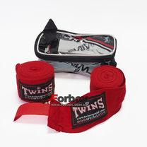 Бинты боксерские Twins эластичные (005-r, красный)