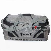 Сумка спортивная Gym Bag Twins 70см*35см*30см (bag-2, серая)
