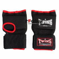 Быстрые бинт-перчатка Twins Wrap Gel гелевая из неопрена (BO-052, черно-красный)