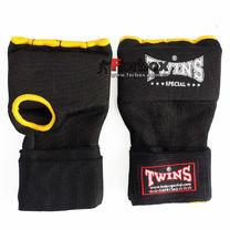 Быстрые бинт-перчатка Twins Wrap Gel гелевая из неопрена (BO-052, черно-желтый)