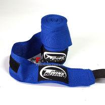 Бинты боксерские Twins из натурального хлопка (CH-1-BU, синий)