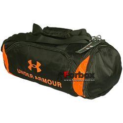 Сумка для спортзала Боченок Under Armour с отделением для обуви (GA-022-1, черно-оранжевая)