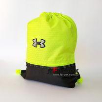 Спортивна Сумка-рюкзак Under Armour 44*33 см з поліестеру (GA-6984-GNBK, салатово-чорна)