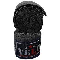Бинты боксерские Velo с аккредитацией AIBA эластичные (AIBA-4080, черные)