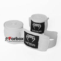 Бинти боксерські Venum еластичні (VN-0430, білі)