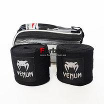 Бинты боксерские Venum эластичные (VN0965, черные)