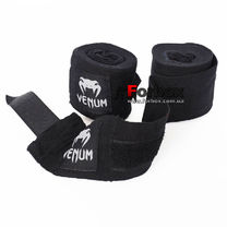 Бинты боксерские Venum эластичные (VN-023, черный)