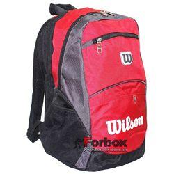 Рюкзак спортивний Backpack Wils (6178, червоно-чорний)