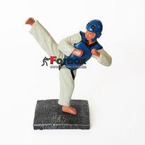 Статуэтка наградная спортивная Тхэквондо (C-1501-B8-BL, синий)