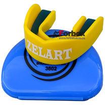Капа одночелюстная Zelart взрослая в коробочке (BO-3602, желтая)