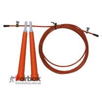 Скакалка со стальным тросом скоростная Zelart (FI-4952, оранжевая)