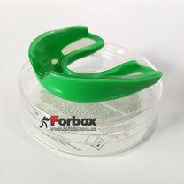 Капа боксерская односторонняя в футляре (BO-6594, зеленая)