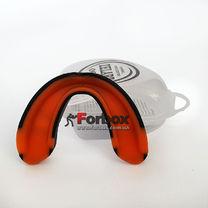 Капа односторонняя двухкомпонентная Zelart взрослая в коробочке (BO-0062, черно-оранжевый)